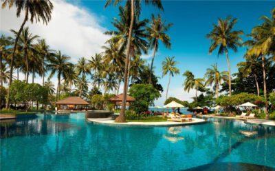 Het Holiday Resort in Senggigi op Lombok, Indonesie