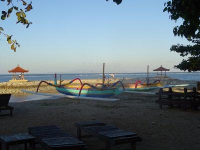Strand van Sanur op Bali
