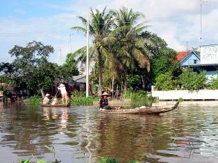 Het lokale leven in de Mekongdelta